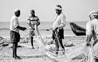 Photographie couradette Pecheur en mer d'Oman - India